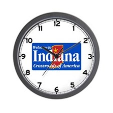 Welcome to Indiana - USA Wall Clock