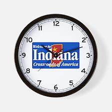 Welcome to Indiana - USA Wall Clock