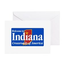 Welcome to Indiana - USA Greeting Cards (Package o