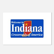 Welcome to Indiana - USA Postcards (Package of 8)