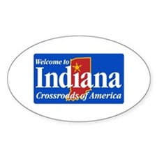 Welcome to Indiana - USA Oval Decal