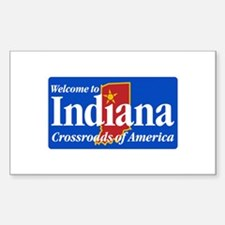 Welcome to Indiana - USA Rectangle Decal