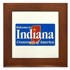 Welcome to Indiana - USA Framed Tile