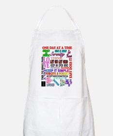 12 STEP SLOGANS IN COLOR Apron