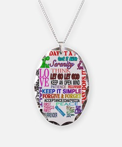 12 STEP SLOGANS IN COLOR Necklace