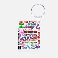 12 STEP SLOGANS IN COLOR Keychains