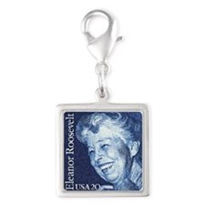 Eleanor-for-light Silver Square Charm