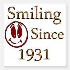 "smiling 31 Square Car Magnet 3"" x 3"""