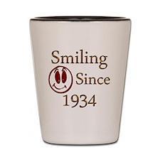 smiling 34 Shot Glass