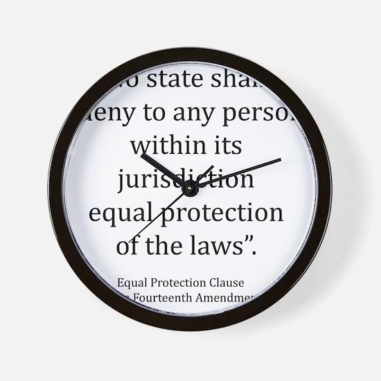 Equal Protection Wall Clock