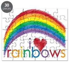 i love rainbows Puzzle