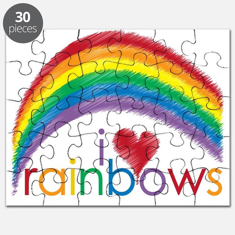 i love rainbows Puzzle
