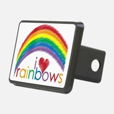 i love rainbows Hitch Cover