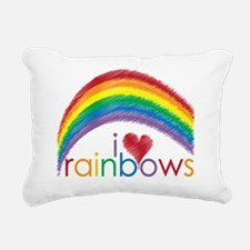 i love rainbows Rectangular Canvas Pillow