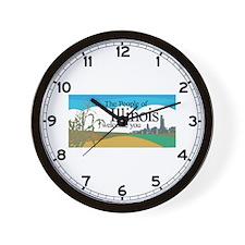 Welcome to Illinois - USA Wall Clock