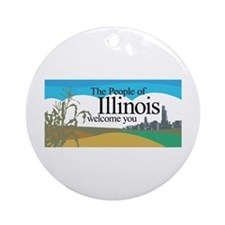 Welcome to Illinois - USA Ornament (Round)