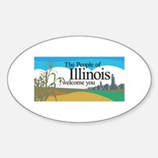 Welcome to Illinois - USA Oval Decal