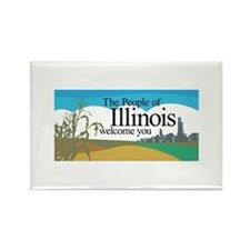 Welcome to Illinois - USA Rectangle Magnet