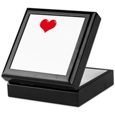 I-Love-My-Dogue-de-Bordeaux-dark Keepsake Box