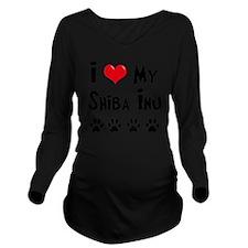 I-Love-My-Shiba-Inu Long Sleeve Maternity T-Shirt