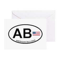 American-Bulldog Greeting Card