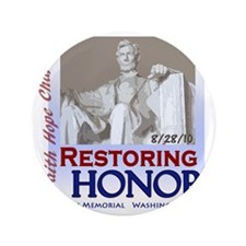 "2-Restoring Honor poster 3.5"" Button"