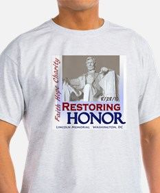2-Restoring Honor poster T-Shirt