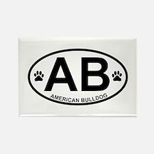 American-Bulldog Rectangle Magnet