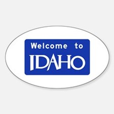 Welcome to Idaho - USA Oval Decal