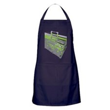 BoomBox_GrnGry Apron (dark)