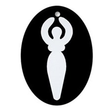 Goddess Oval Ornament