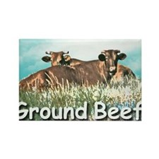GROUND BEEF  mousepad Rectangle Magnet
