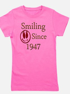 smiling 47 Girl's Tee