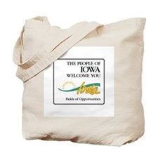 Welcome to Iowa - USA Tote Bag