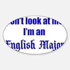 englishmajor Sticker (Oval)