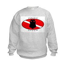Police Diver (oval) Sweatshirt