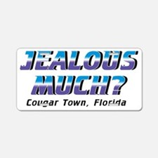 cougar-town_jealous-much Aluminum License Plate
