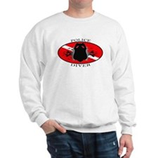Flame Police Diver (oval) Sweatshirt