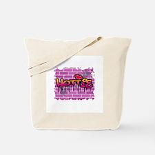 """Grafitti Style """"Hottie"""" Design Tote Bag"""