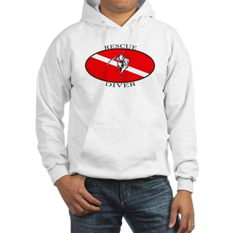 Rescue Diver (oval) Hooded Sweatshirt