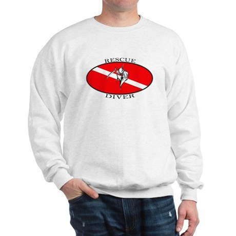 Rescue Diver (oval) Sweatshirt