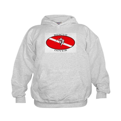 Rescue Diver (oval) Kids Hoodie