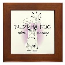 Buddha Dog 300 DPI Final.ai Framed Tile