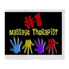 Massage Therapist Throw Blanket