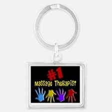 Massage Therapist Landscape Keychain