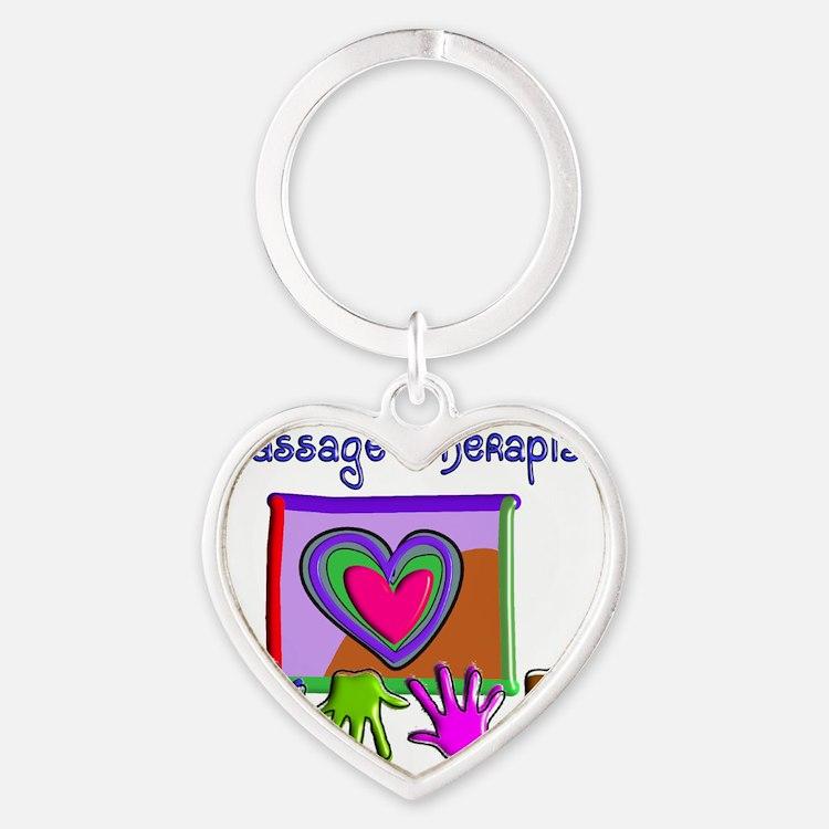 Massage Therapist Heart Keychain