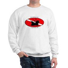 Wreck Diver (oval) Sweatshirt