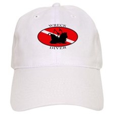 Wreck Diver (oval) Baseball Cap