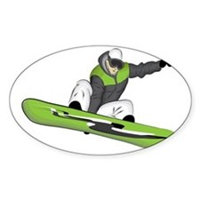 SnowboarderPocket Stickers