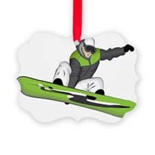 SnowboarderPocket Picture Ornament